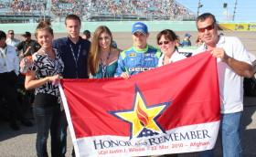 We would like to thank Honor and Remember for the special day we got to spend with them in Honor of Justin at Nascar